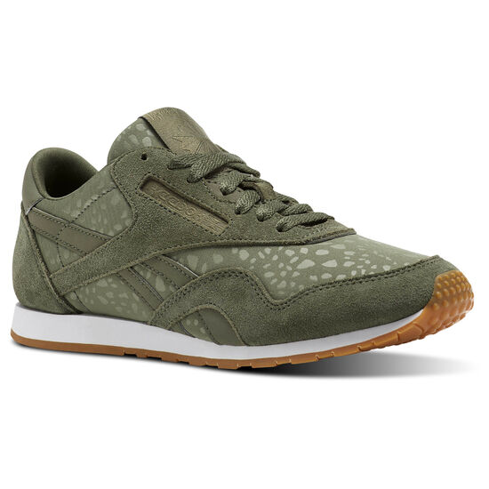 Reebok - Classic Nylon Slim Text Lux Hunter Green/White/Gum BS9446
