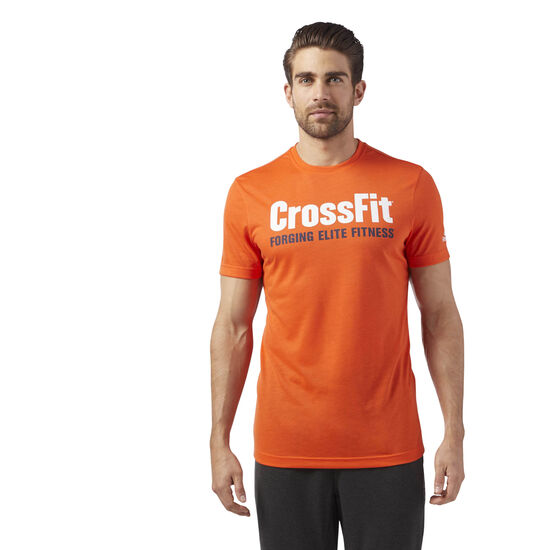 Reebok - Reebok CrossFit Speedwick F.E.F. Graphic Tee Orange/Bright Lava CF4546