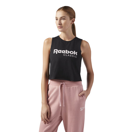 Reebok - GP Q2 CROP TANK Black CF3152