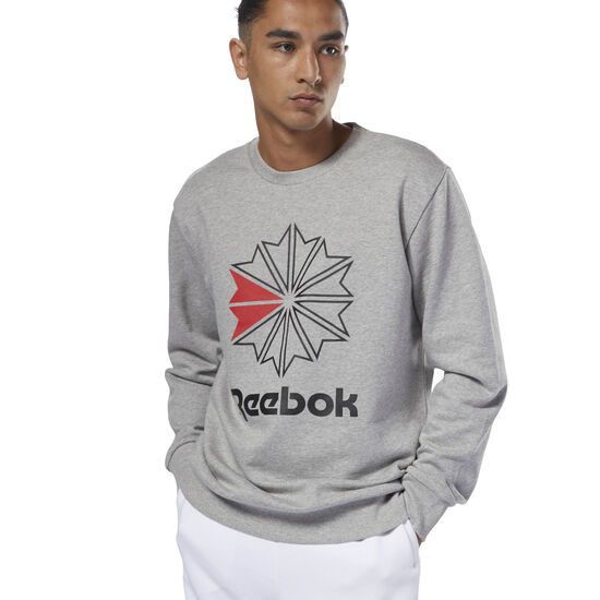 Reebok - Classics French Terry Big Iconic Crewneck Medium Grey Heather DM5160