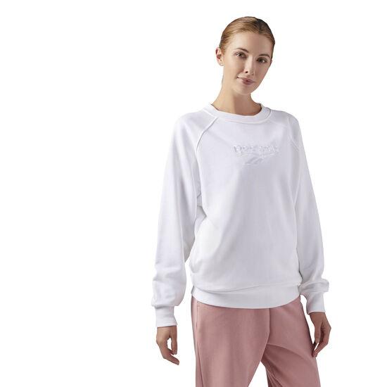 Reebok - Cotton Cover-Up Sweatshirt White CF3952