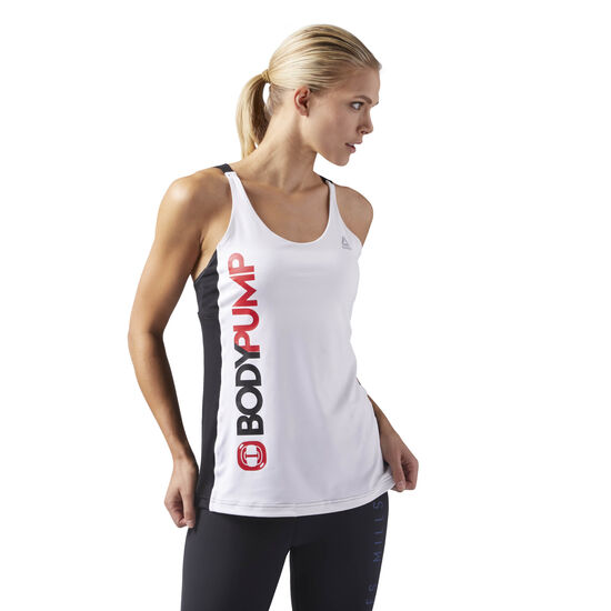 Reebok - LES MILLS BODYPUMP™ Tank With Built In Bra White CD6219