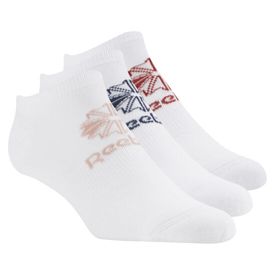 Reebok - Classics Foundation Unisex No Show Sock - 3pair White/White/White CV8659