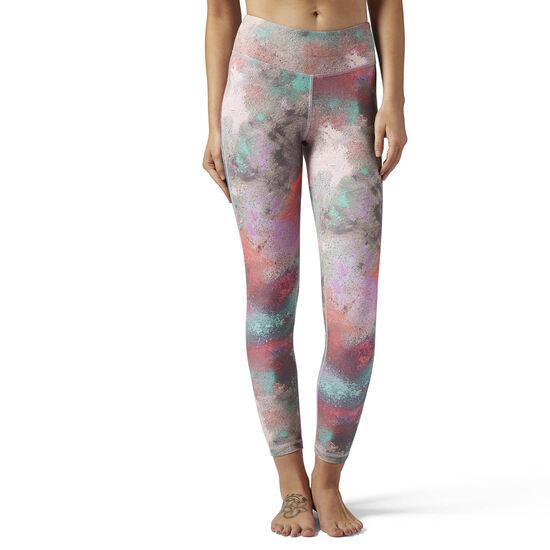 Reebok - Reebok Lux Bold Legging - Chalked Print Multicolor/Emerald Haze BR2788