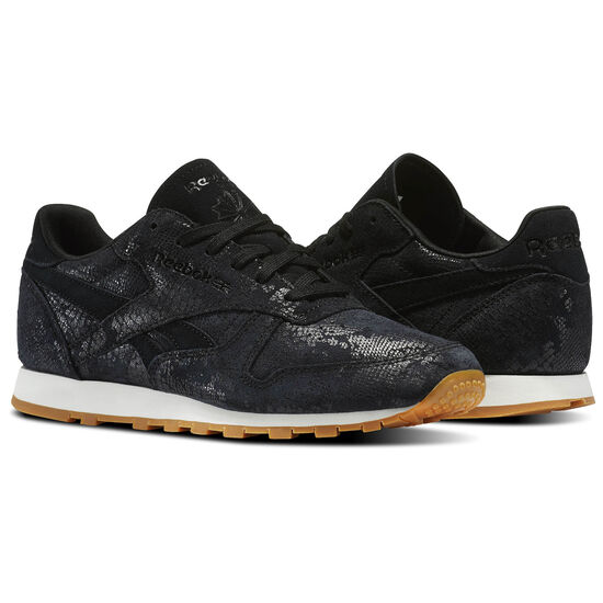 Reebok - Classic Leather Clean Exotics Black/Chalk/Gum BS8229