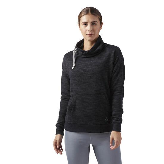 Reebok - Reebok Training Essentials Cowl Neck Sweatshirt Black CF8644