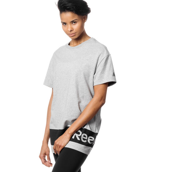 Reebok - Workout Ready Oversized Tee Medium Grey Heather CD7582