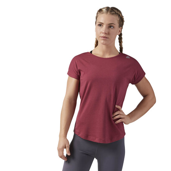 Reebok - Workout Ready Mesh Tee Urban Maroon CE1164
