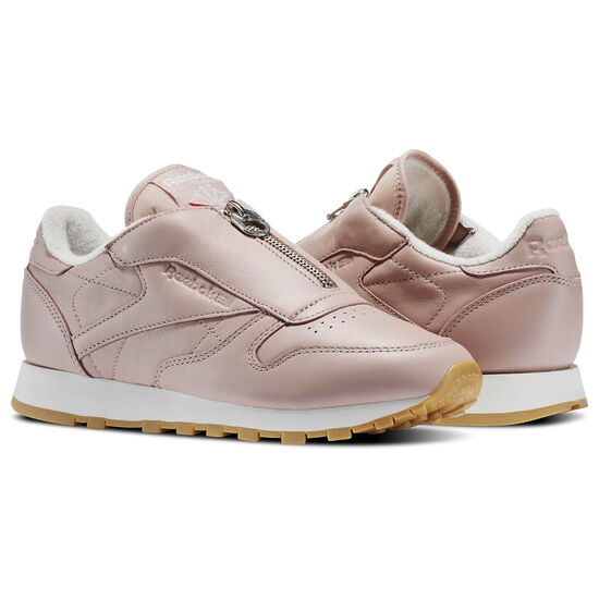 Reebok - Classic Leather Zip Shell Pink/Chalk/Silver Metallic BS8065