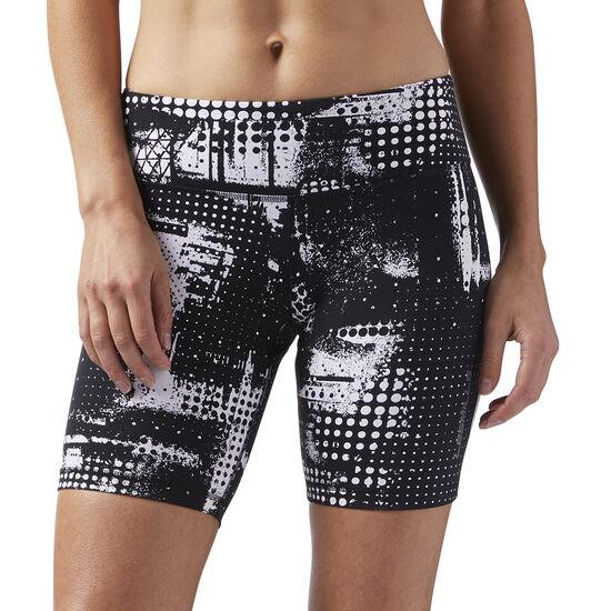 Reebok - LES MILLS Shorts - All Over Print Black/White CD6197