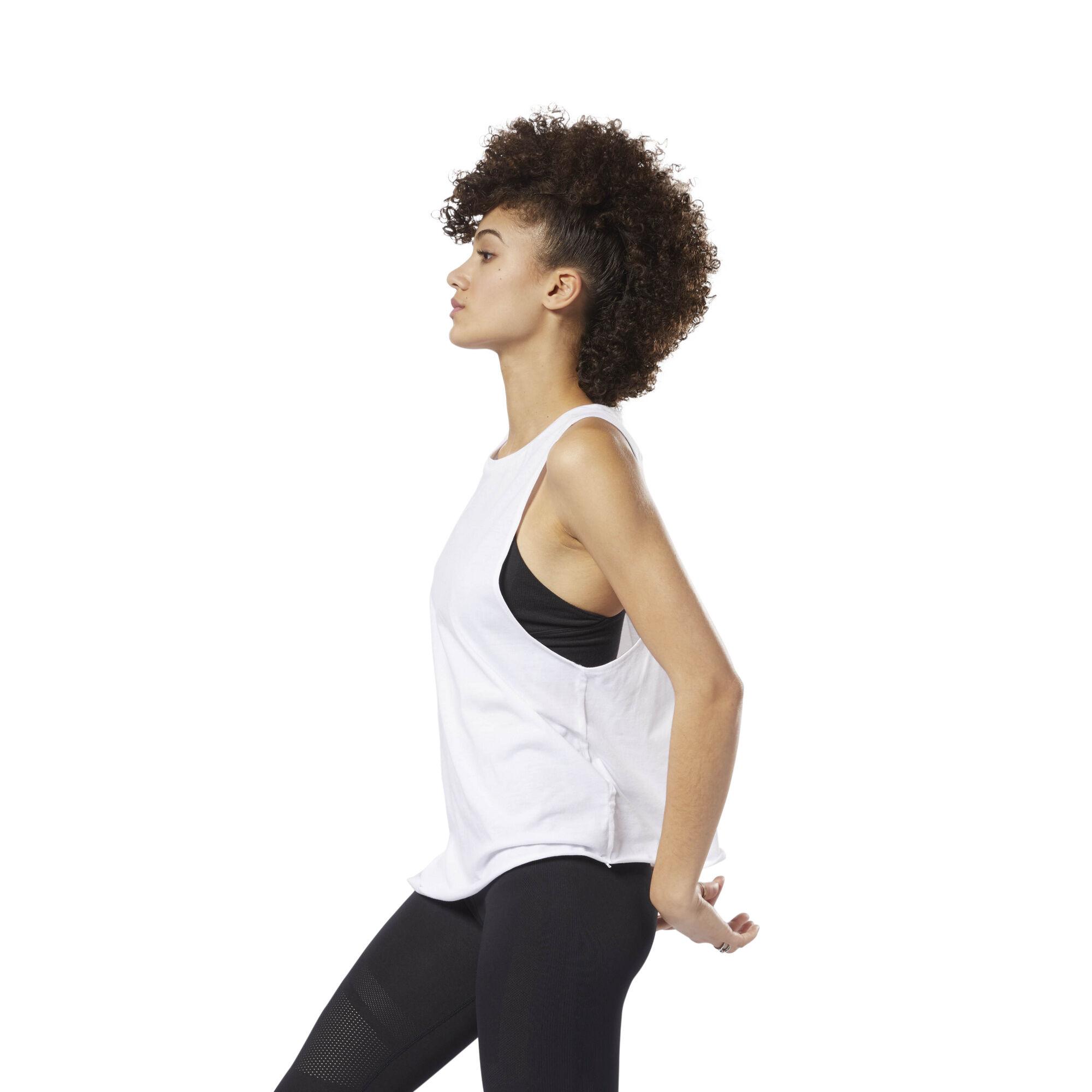 Women Reebok Gr Shirts White Studio Tops amp; wXrXzqA