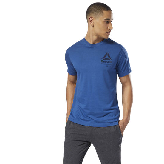 Reebok - Speedwick Graphic Tee Bunker Blue DH3326