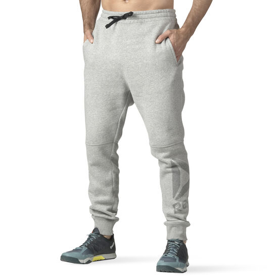 Reebok - Workout Ready Big Logo Cotton Pant Medium Grey Heather B49896