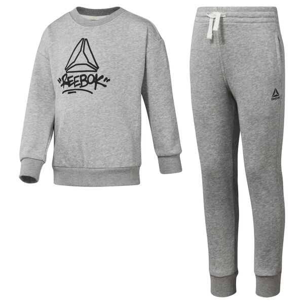 Boys' Essentials French Terry Tracksuit Grey DH4341