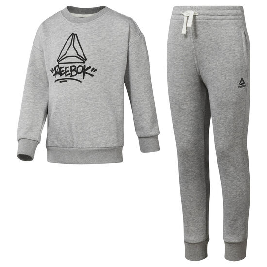 Reebok - Boys' Essentials French Terry Tracksuit Medium Grey Heather DH4341