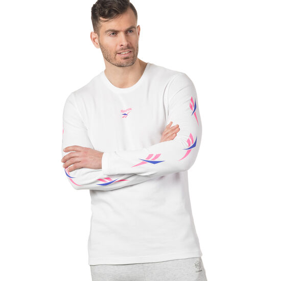 Reebok - LF Long Sleeve Print T-Shirt White DN9806