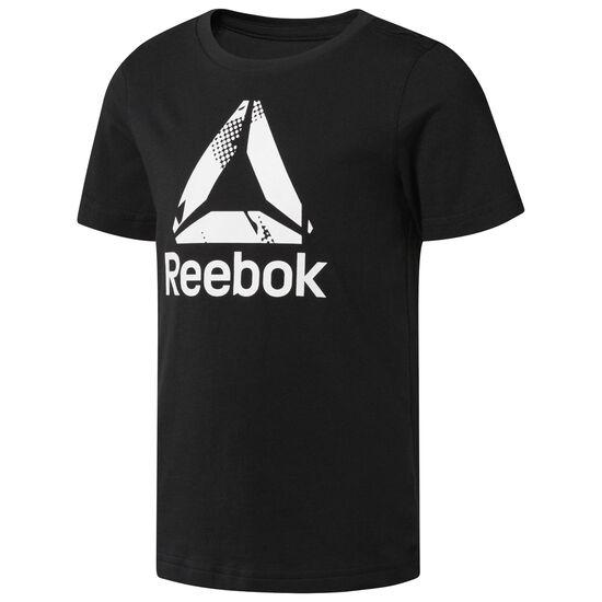 Reebok - Boy's Logo Tee Black CF4262