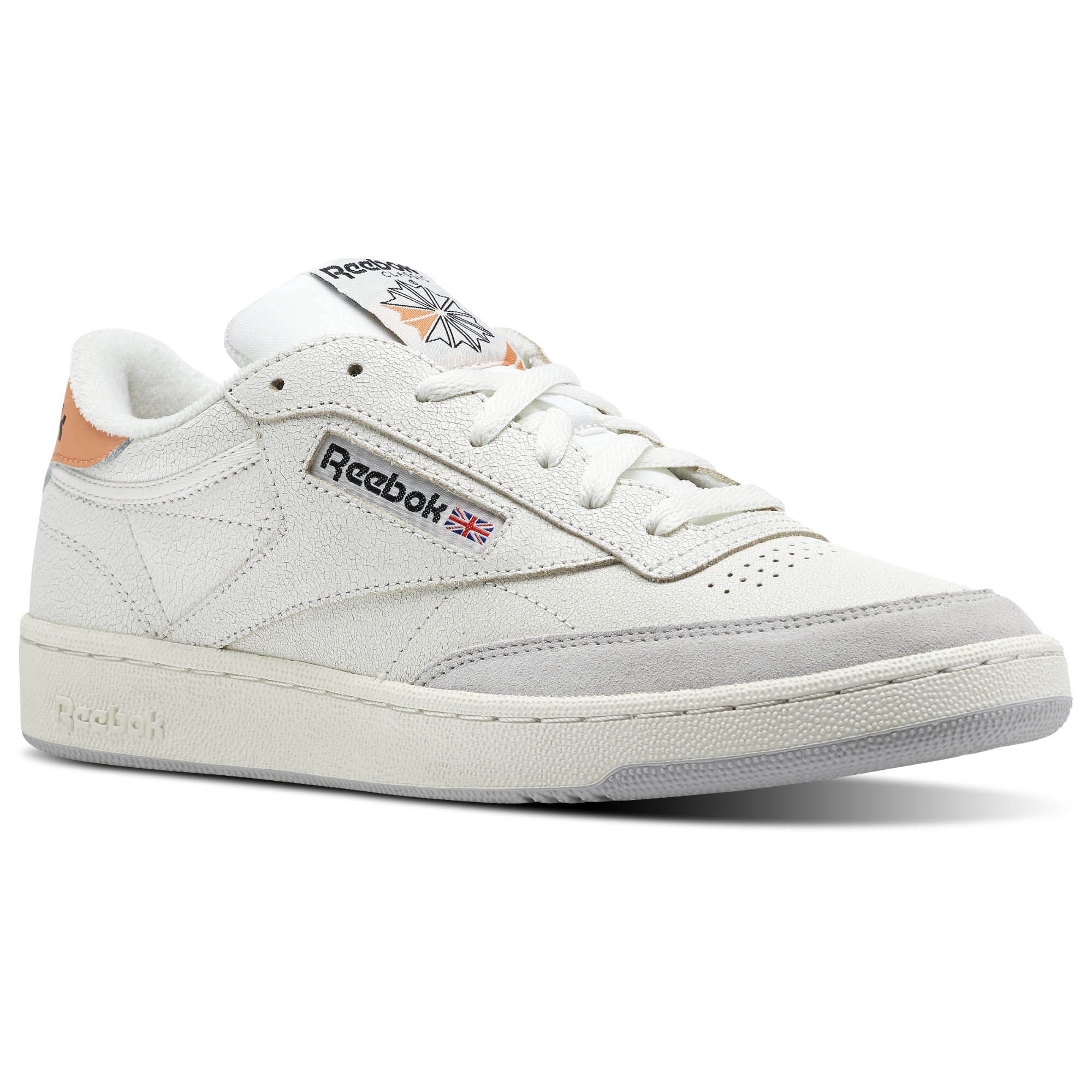 Reebok - Reebok Club C 85 FT Chalk/Sunbaked Orange/Skull Grey/Black