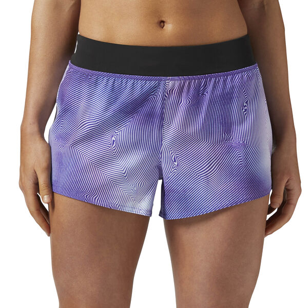 Woven 8 cms Short - Techspiration Print Purple BR2632