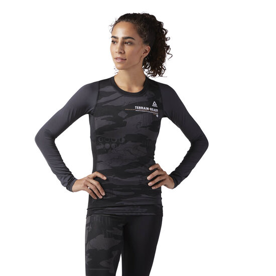 Reebok - Speedwick Long Sleeve Compression T-Shirt Black CE1366