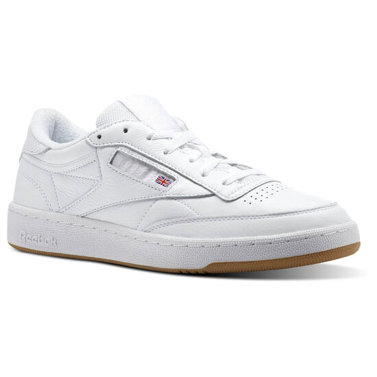 Reebok - Club C 85 ESTL White/Washed Blue-Gum CN0385
