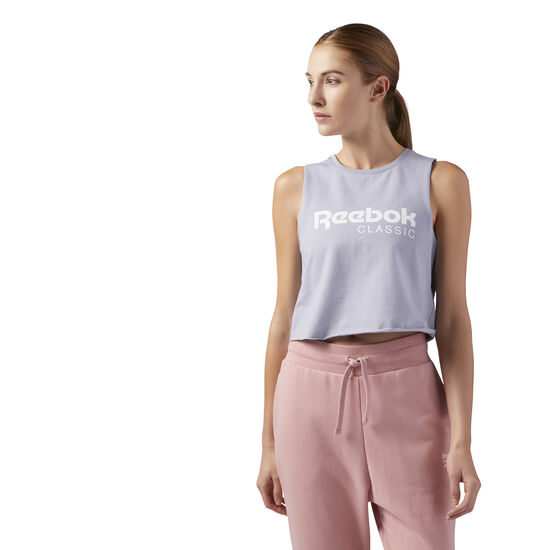 Reebok - GP Q2 CROP TANK Cool Shadow CF3150
