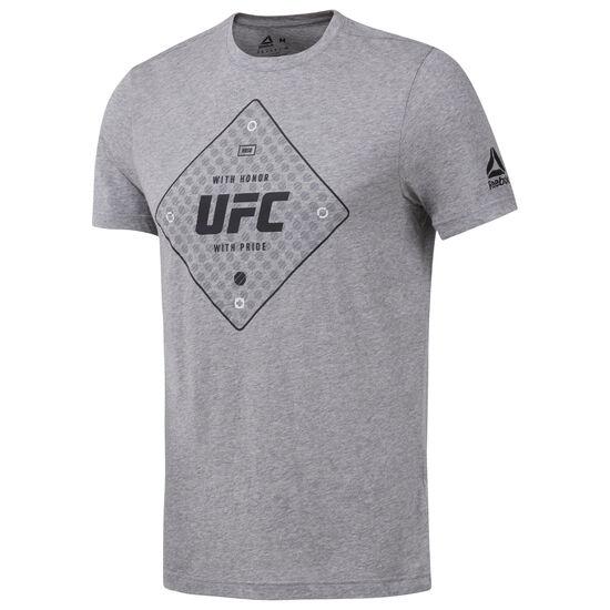 Reebok - UFC Text Tee Medium Grey Heather D95026