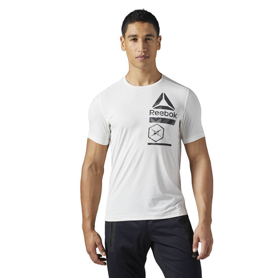 Reebok - ACTIVCHILL Zoned Graphic T-Shirt Chalk CE6489