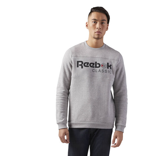 Reebok - Reebok Classics Iconic crew neck Sweatshirt Medium Grey Heather/Medium Grey Heather CE1851