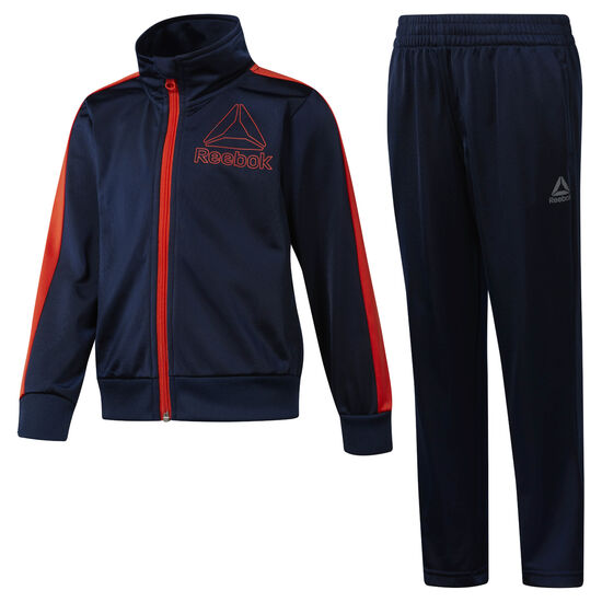 Reebok - Boys' Workout Ready Tricot Tracksuit Collegiate Navy DH4328