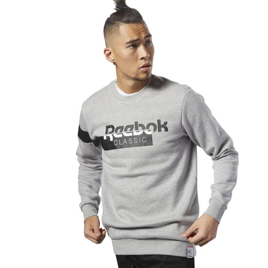 Reebok - Classics Disruptive Fleece Crewneck Medium Grey Heather DH2064