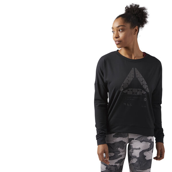 Speedwick Crew Neck Sweatshirt Black CF5851