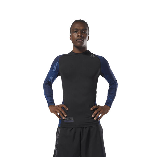 Reebok Combat Long Sleeve Rash Guard Blue CY9964