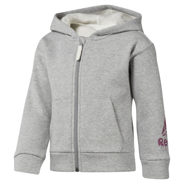 Girls Training Essentials Fullzip Fleece Hoody Grey DJ3063