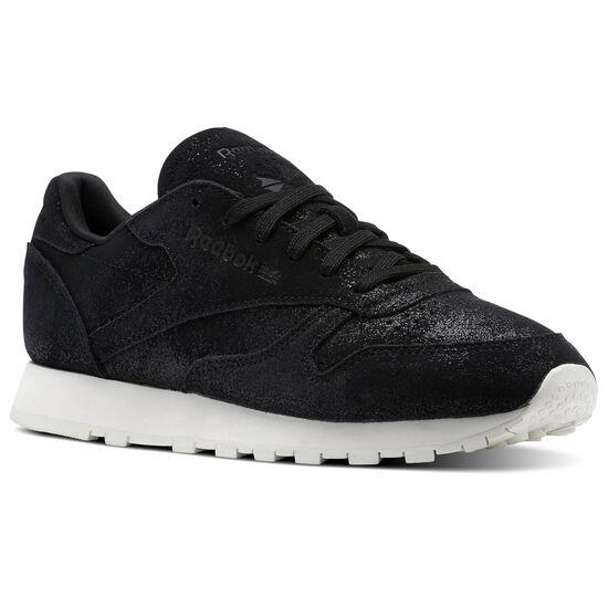 Reebok - Classic Leather Shimmer Black/Chalk BS9856